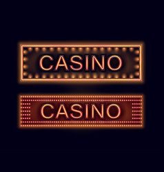Illuminated casino signboards vector