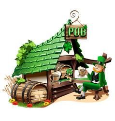 Irish pub vector
