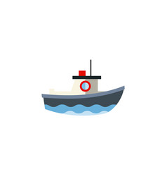Isolated vessel flat icon transport vector