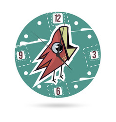Kids dial plate clock face with a vector