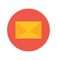 Mail Envelope Flat Circle Icon vector image