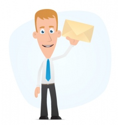 manager standing with a letter vector image