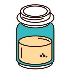 Mason jar with ingredient kitchen vector