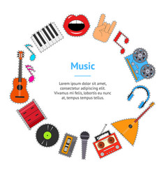 musical instruments and equipment banner card vector image vector image