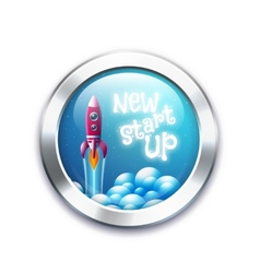 New project start up button vector