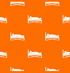 Patient in bed in hospital pattern seamless vector