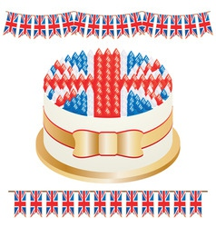 union jack cake vector image vector image
