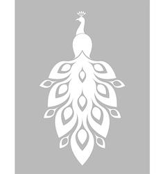 White peacock vector image