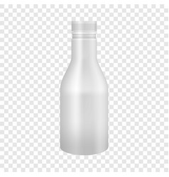 White yogurt or milk plastic bottle mockup vector