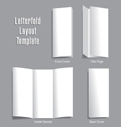 Letterfold layout template vector