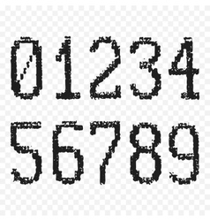 Grunge old numbers vector