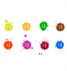 Smile blots vector