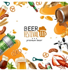 Beer festival template vector