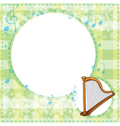 A musical stationery vector