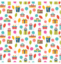 Birthday background seamless pattern with vector