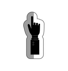 Hand human pointer icon vector