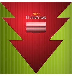 Red and green abstract merry christmas background vector