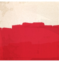 grungy red paint vector image