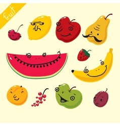 Fruits set of fruits vector image