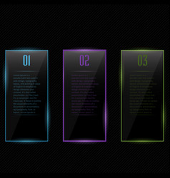 Template design colored glass vector image