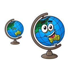 Colorful world globe with a laughing smile vector