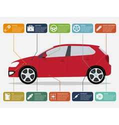 Car infographic vector