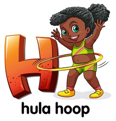 A letter h for hula hoop vector
