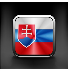 Slovak republic flag national travel icon country vector