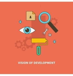 Stage business process is vision of development vector