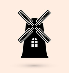 Mill design vector