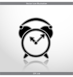 Alarm clock web icon vector