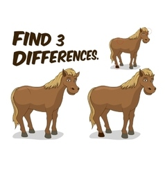 Find differences game horse vector