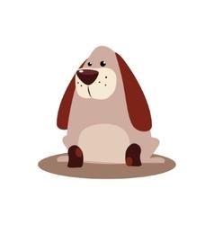 Sitting Brown Dog vector image