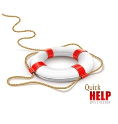 Rescue ring for quick help vector