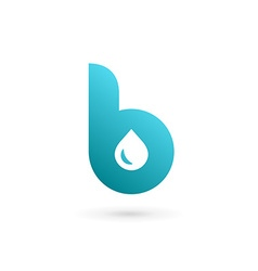 Letter b water drop logo icon design template vector