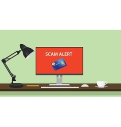 Spam alert and danger with computer vector