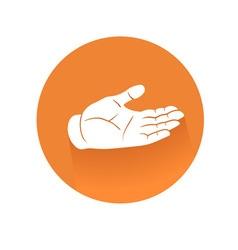 recieving hand symbol vector image