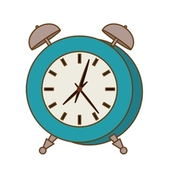 Blue alarms clock icon image vector