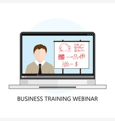 Business training webinar icon flat design vector