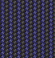 carbon fiber black blue vector image