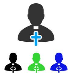 Catholic priest flat icon vector