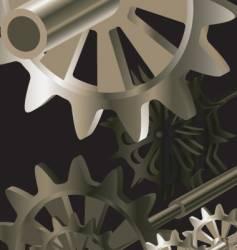 clockworks bronze vector image vector image