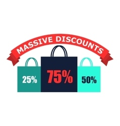 Discounts flat icon vector image