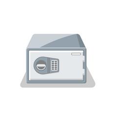 Door bank vault with electronic combination lock vector