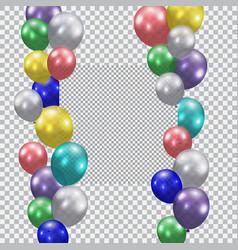 festive balloons realistic semi-transparent vector image vector image