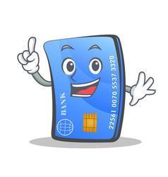 Finger credit card character cartoon vector