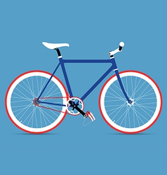 FIXED GEAR BICYCLE vector image vector image
