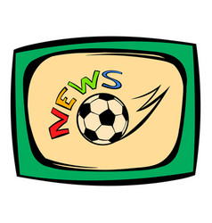 Football news icon icon cartoon vector
