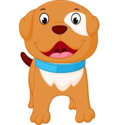 Happy dog cartoon vector