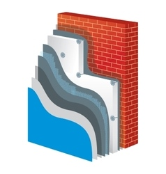 Insulation polystyrene thermal isolation vector